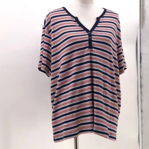 Erika woman admirals navy combo striped top plus